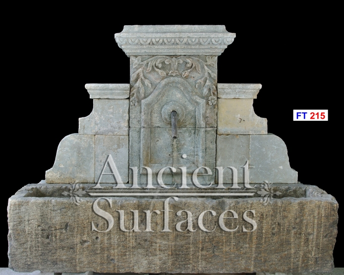 antique wall fountains out of antique reclaimed limestone by ancient surfaces