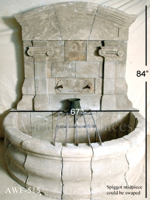 A unique antique stone wall fountain. A life long dedication to quality architectural stone products beyond belief. http://www.ancientsurfaces.com/Antique-Wall-Fountains-2.html