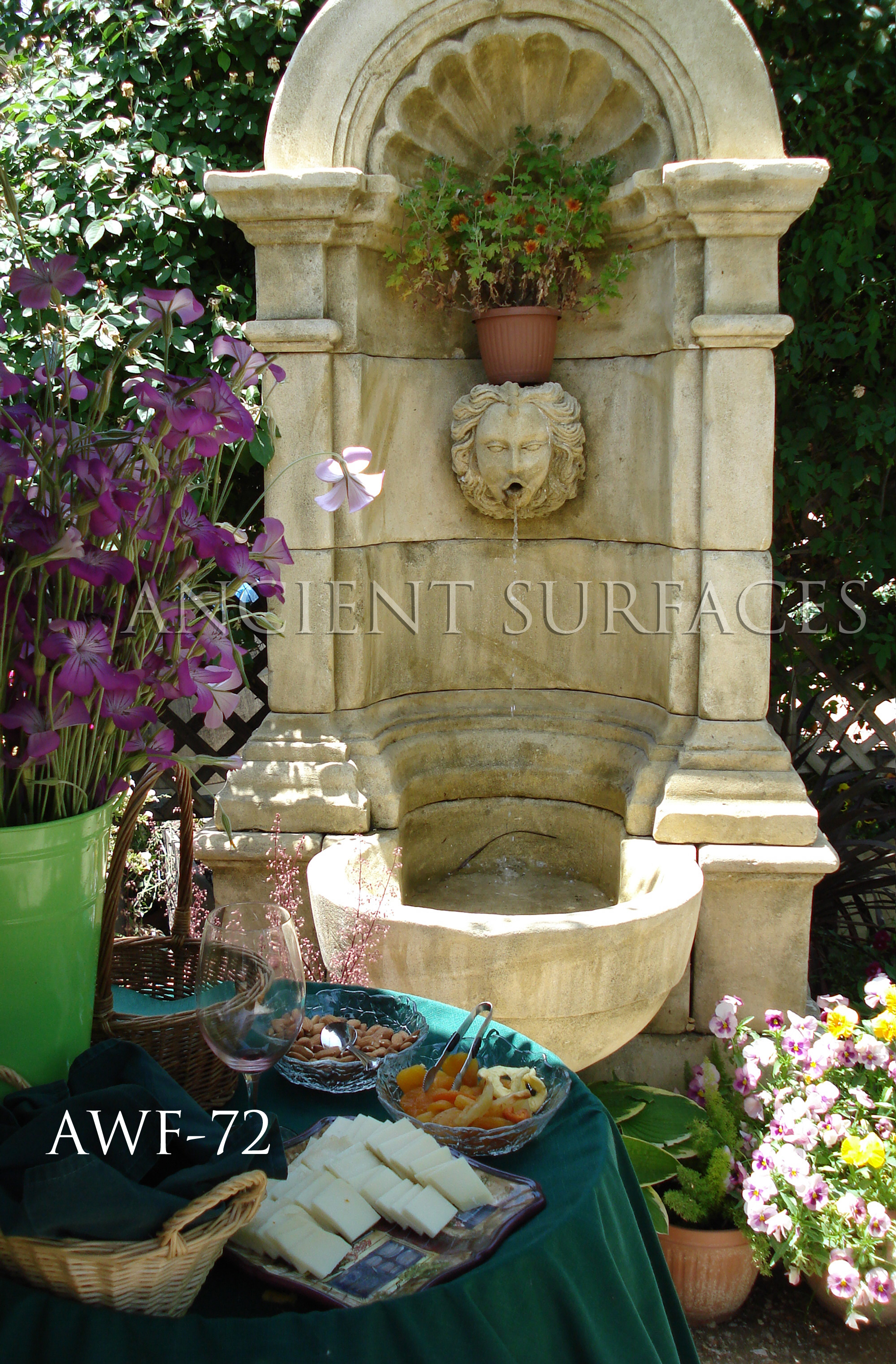 Our antique provence wall fountains part ii antique for Outdoor wall fountains