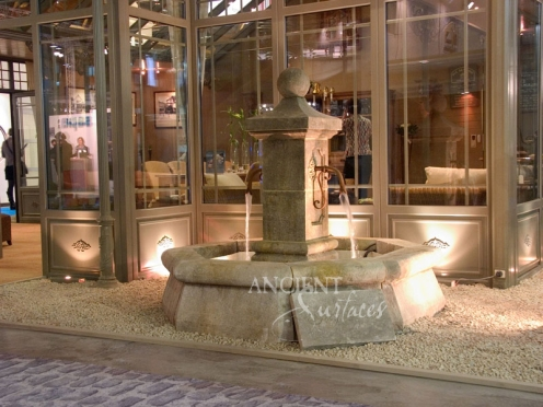Antique Octagonal Stone Fountain by Ancient Surfaces.