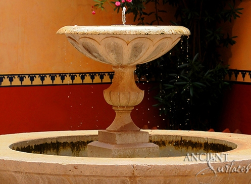 Antique Medieval wall fountain by Ancient Surfaces.