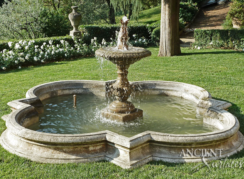 Installed antique provence wall fountains by ancient for Waterfall fountain