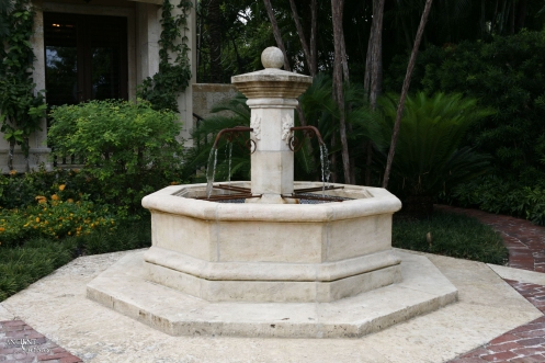 Outdoor landscaping with stone water Fountains-3